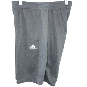 5/$35 Adidas Mens Gray Climalite Shorts - S